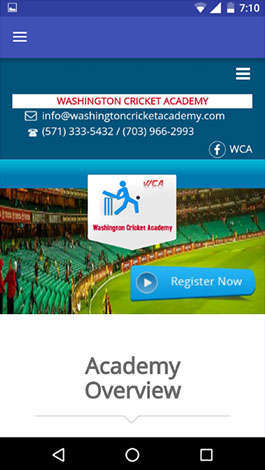WASHINGTON CRICKET ACADEMY
